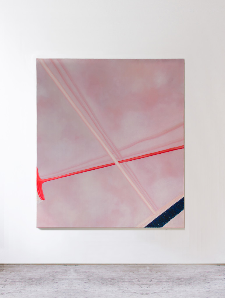 Untitled (I own two brooms),  150x130 cm,  oil on canvas,  2019
