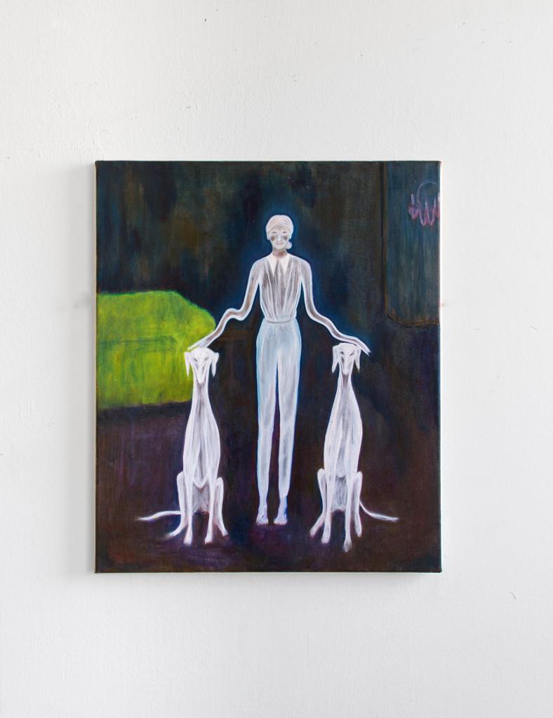 Untitled (pompous posture) 60x50 cm oil on canvas 2021