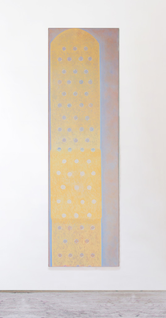 Untitled (thin-skinned painting),  160x46 cm,  oil on canvas,  2019